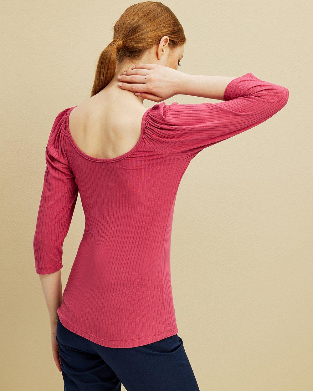 Μπλούζα με μεγάλη λαιμόκοψη