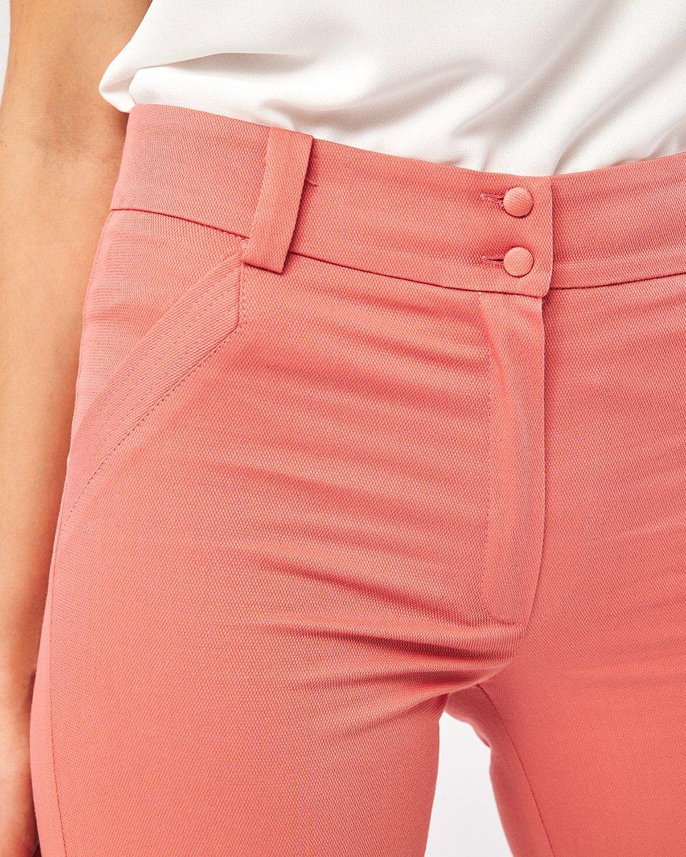 Παντελόνι πικέ με λοξή κοφτή τσέπη