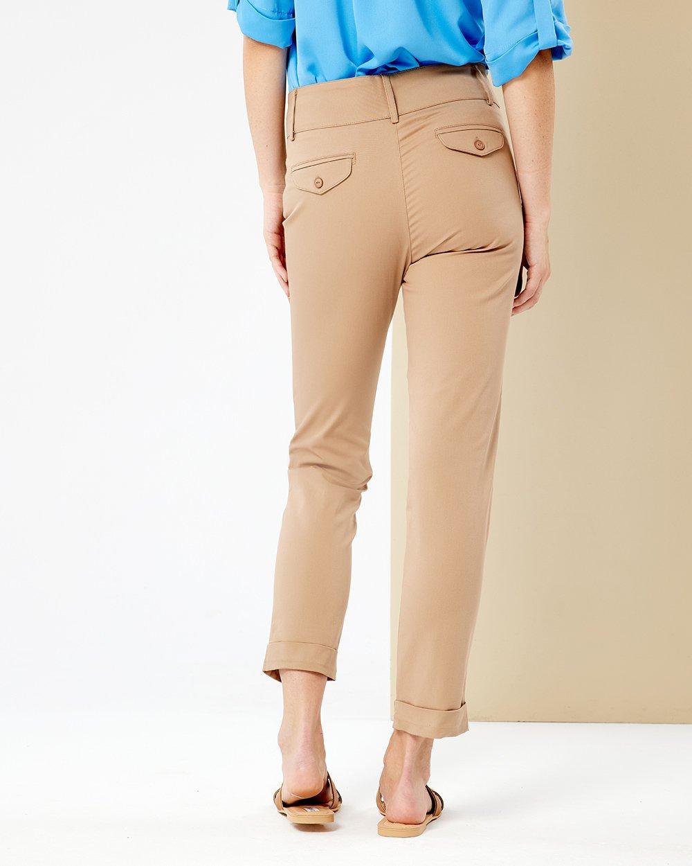 Παντελόνι με μπάσκα και ρεβέρ