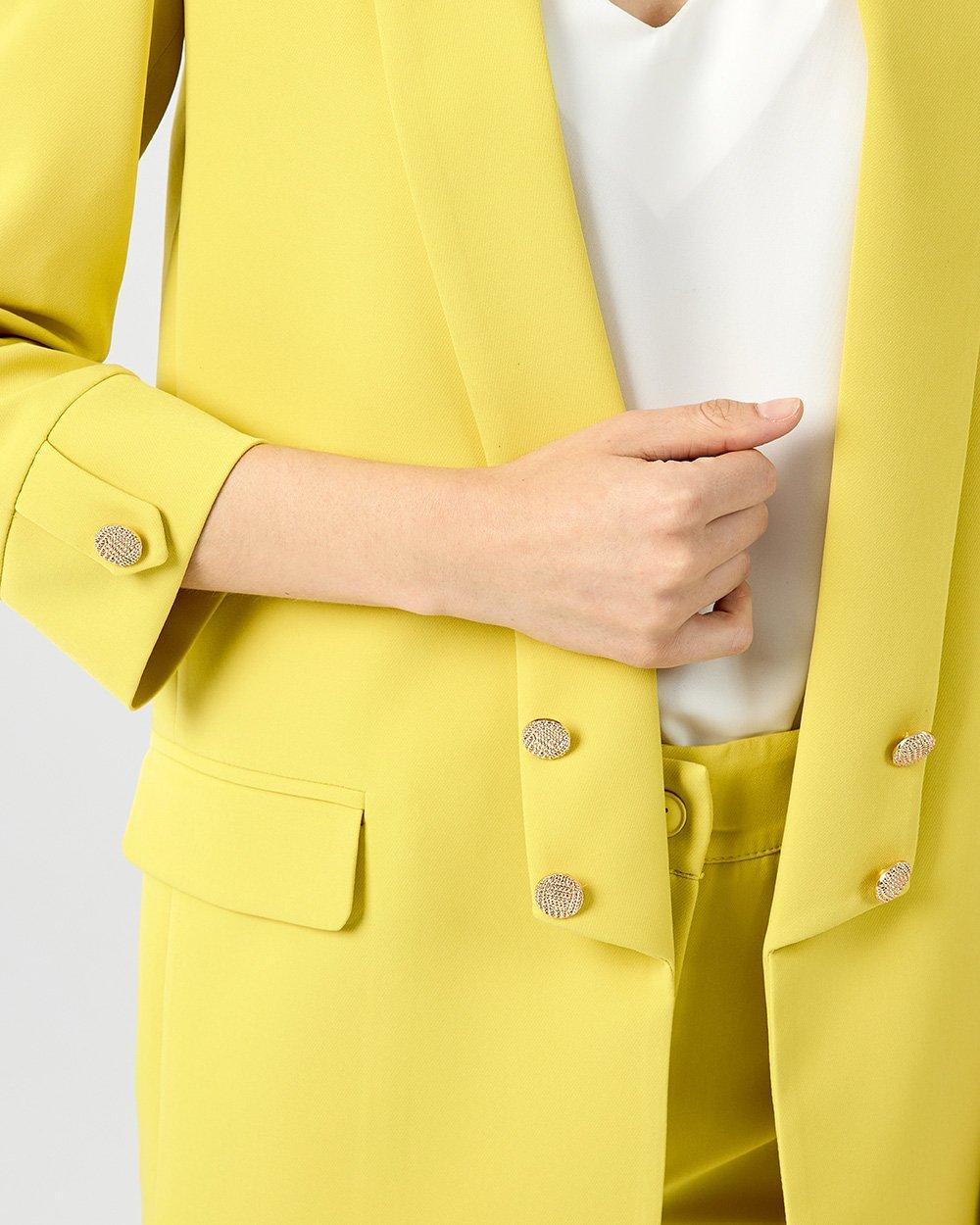 Σακάκι oversize με χρυσά κουμπιά