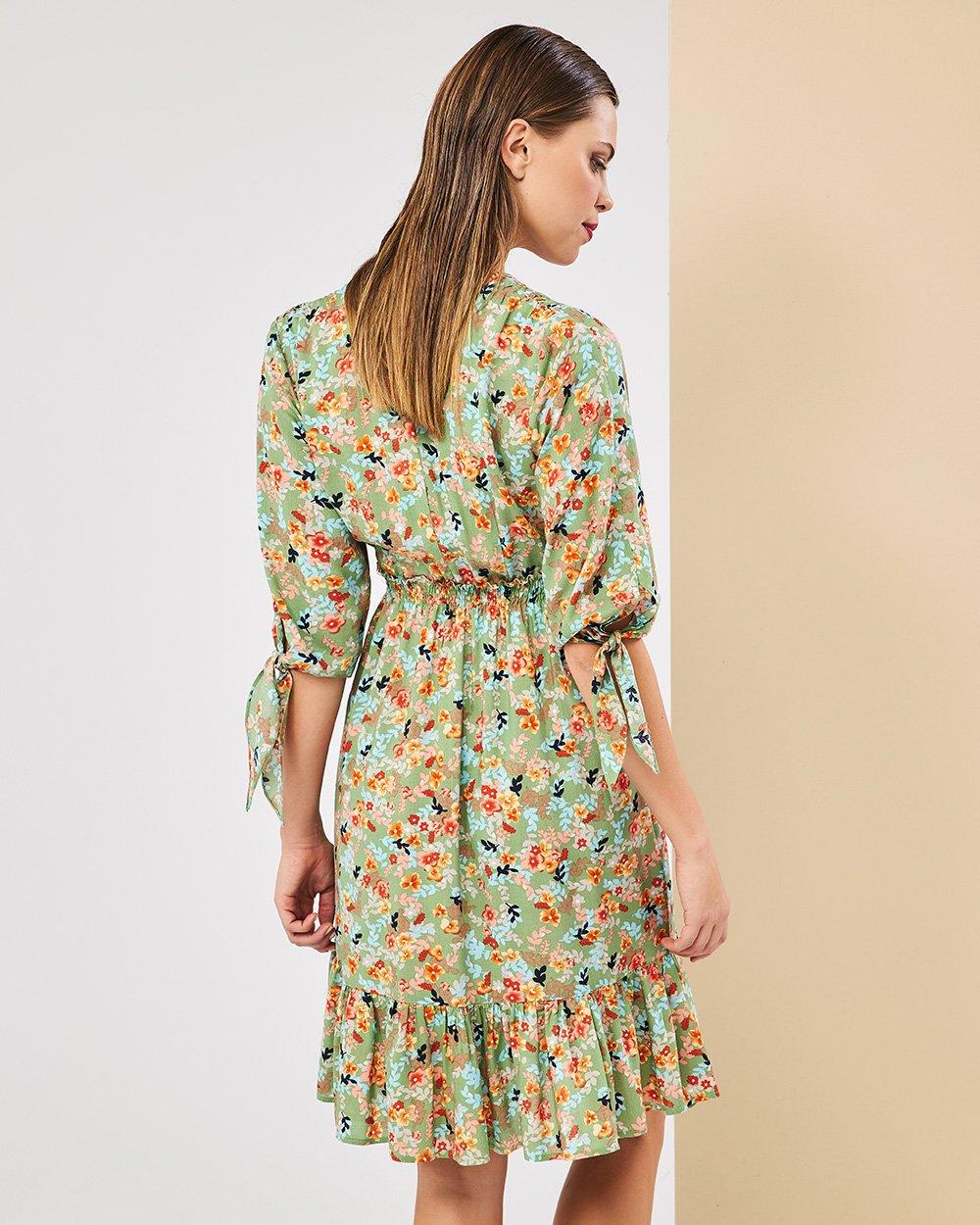 Φόρεμα εμπριμέ κοντό