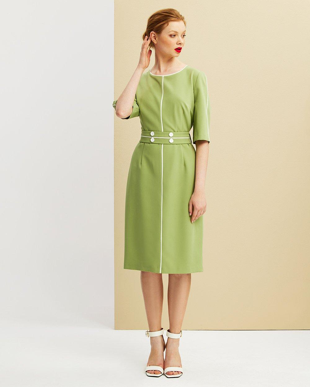 Φόρεμα pencil 3/4 μανίκι