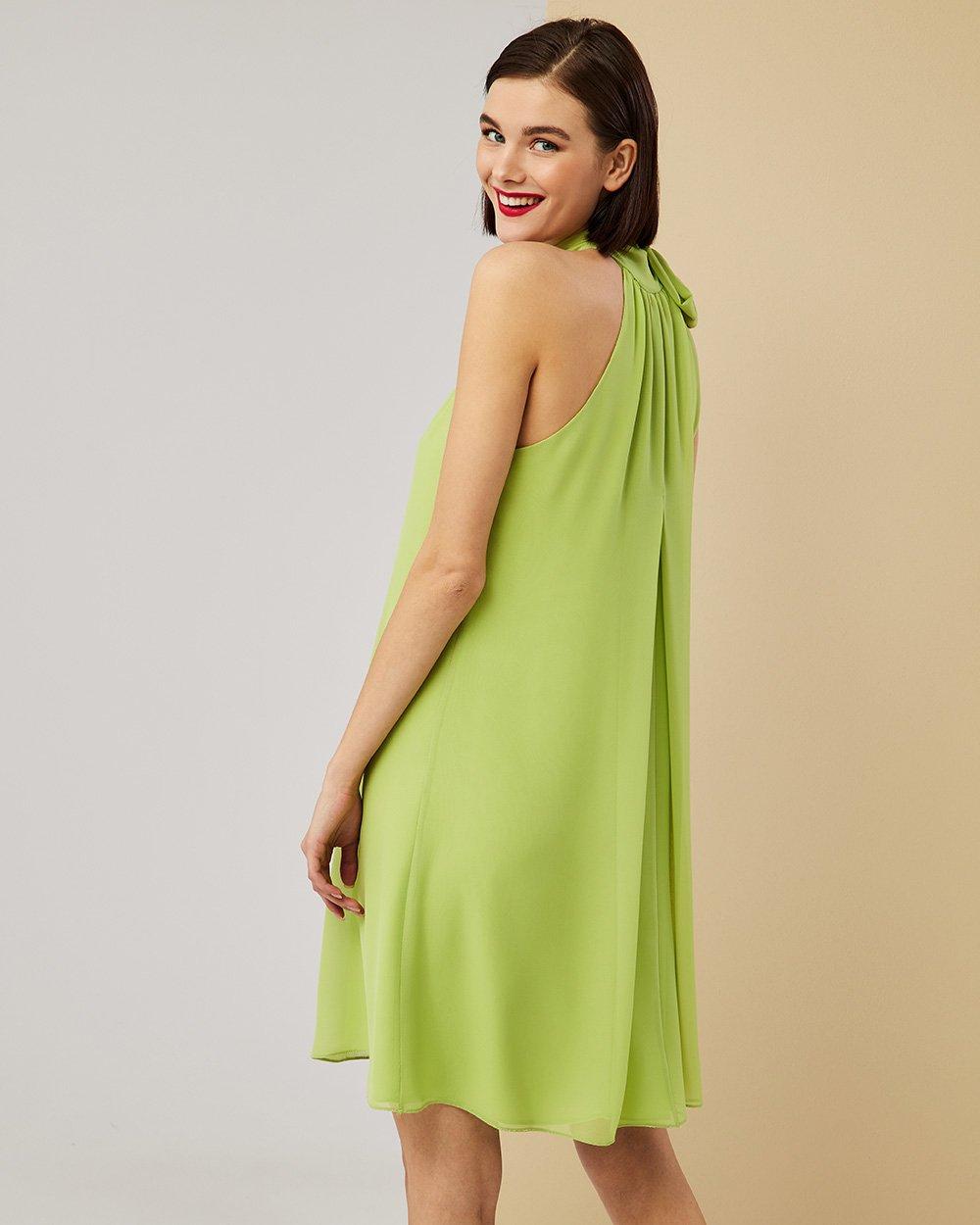 Φόρεμα αμπίρ με παρτούς ώμους