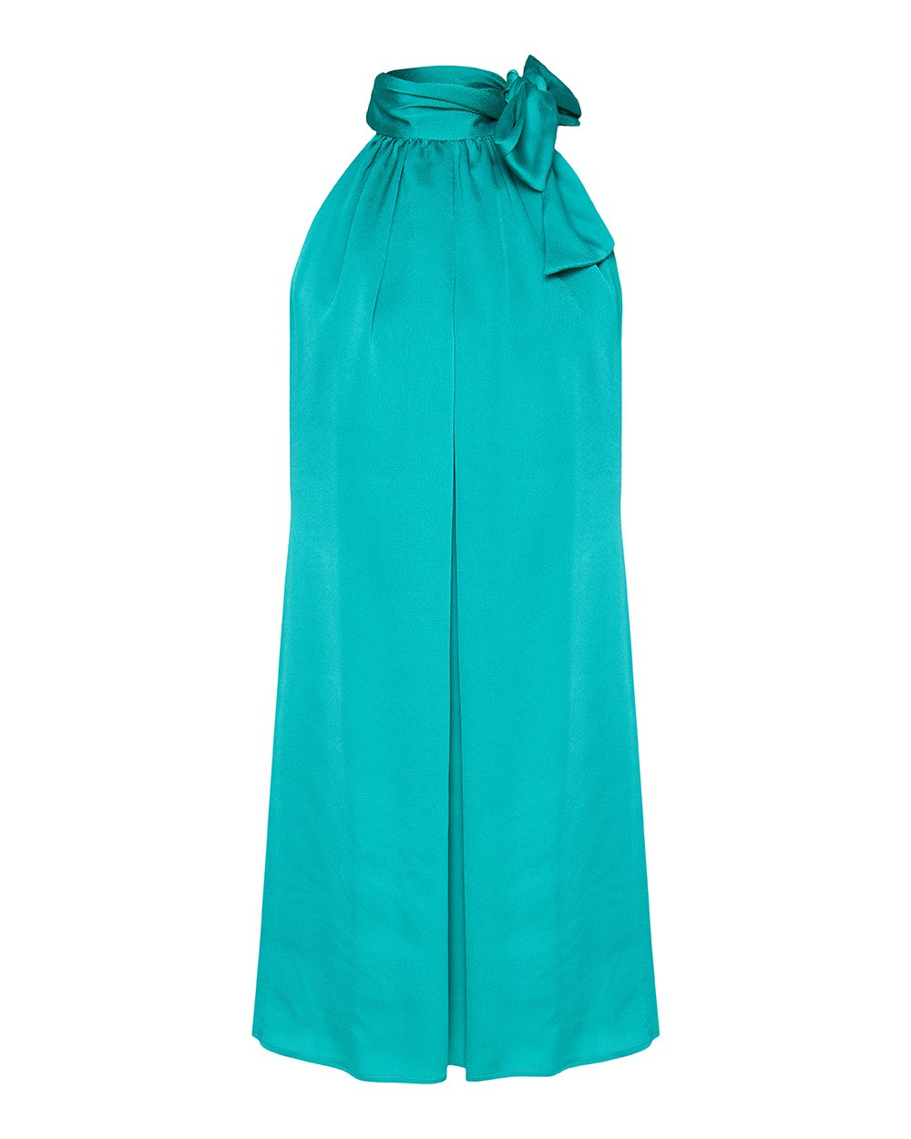 Φόρεμα παρτους ωμους με δέσιμο στο λαιμό