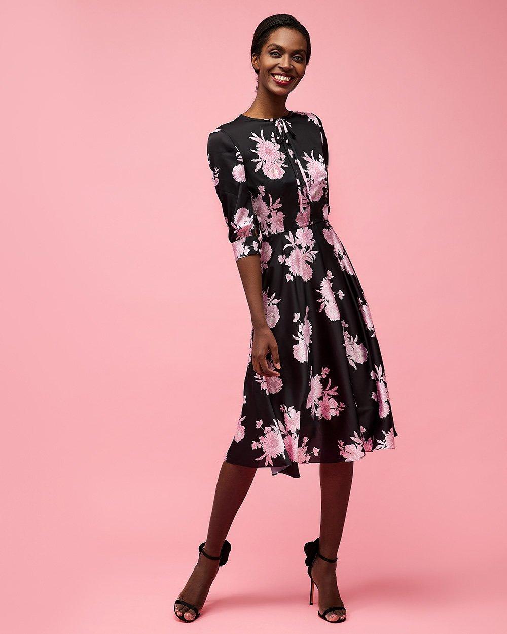 Φόρεμα floral λοξό