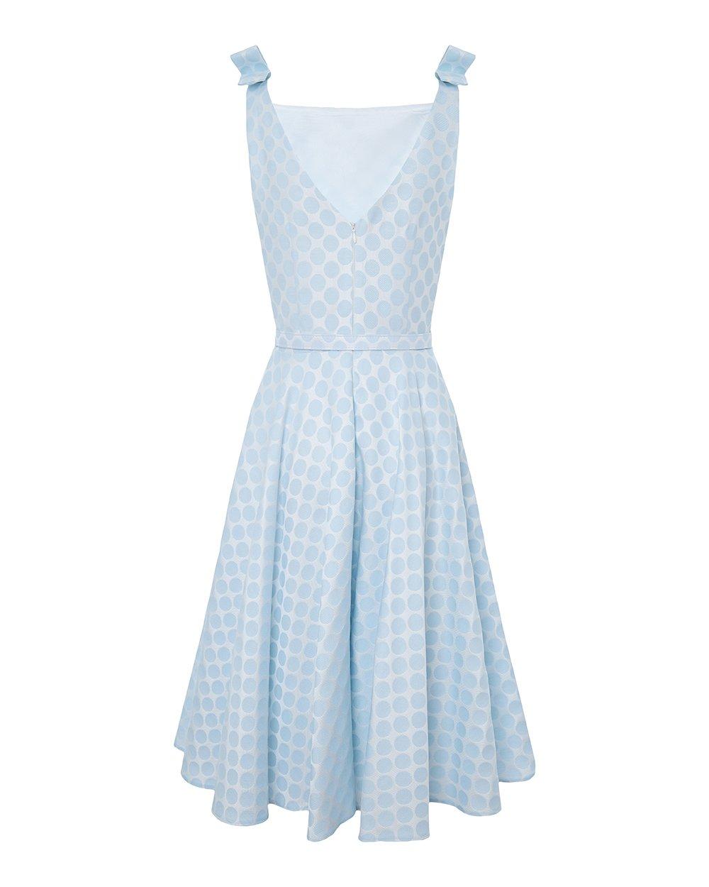 Φόρεμα πουά με φιογκάκια