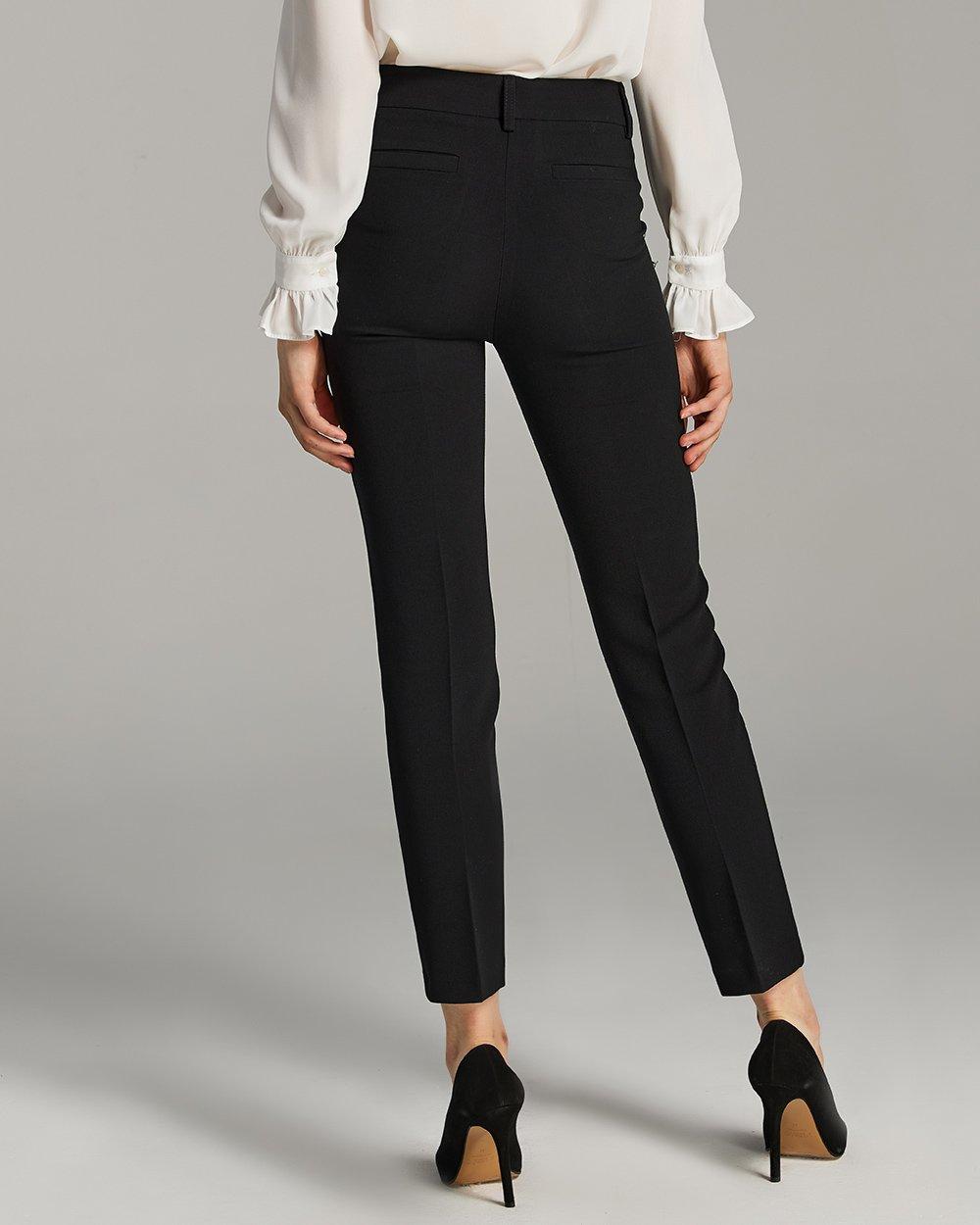 Παντελόνι σε στενή γραμμή με χρυσά κουμπιά