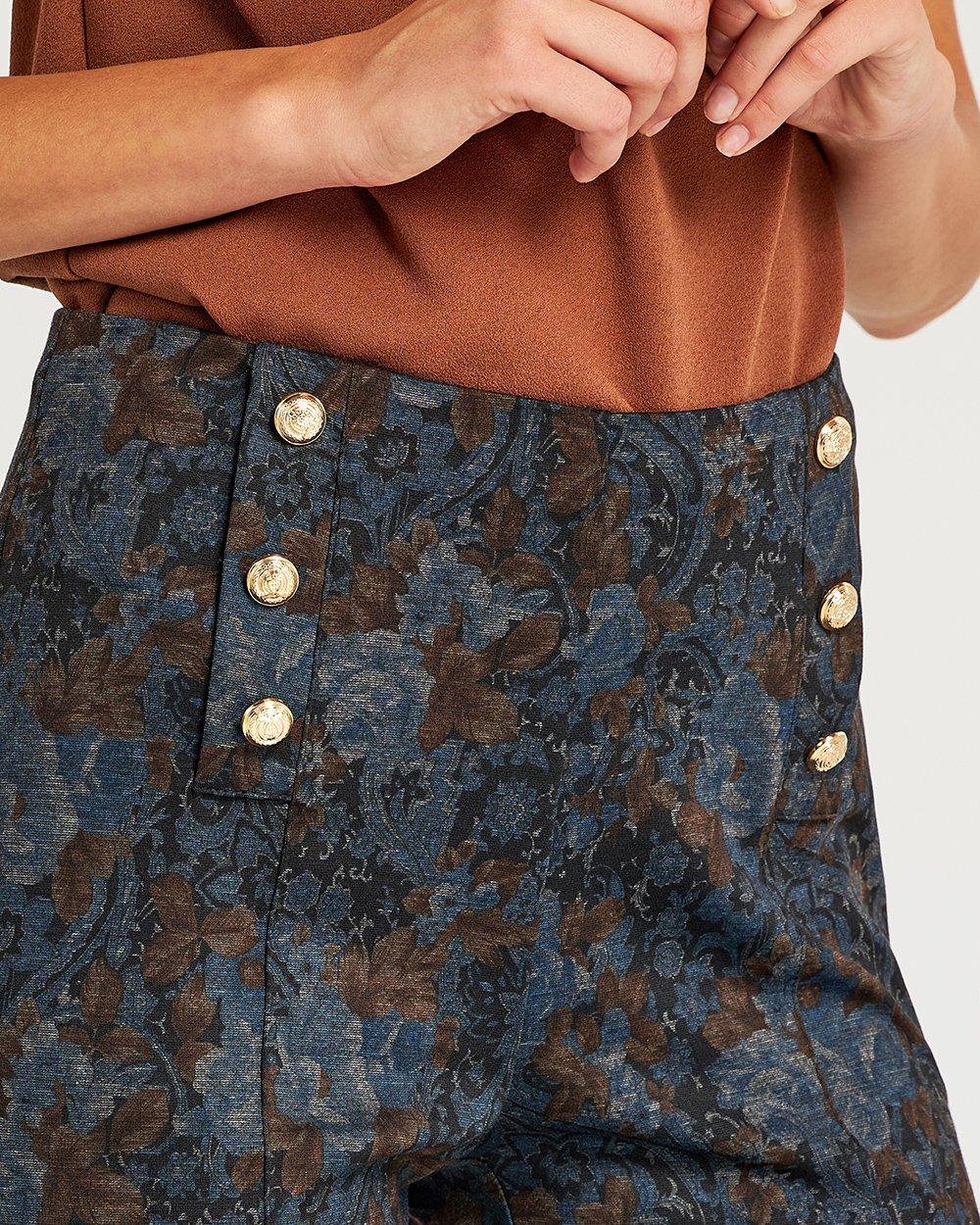 Παντελόνι με σχέδιο στην ύφανση καμπάνα