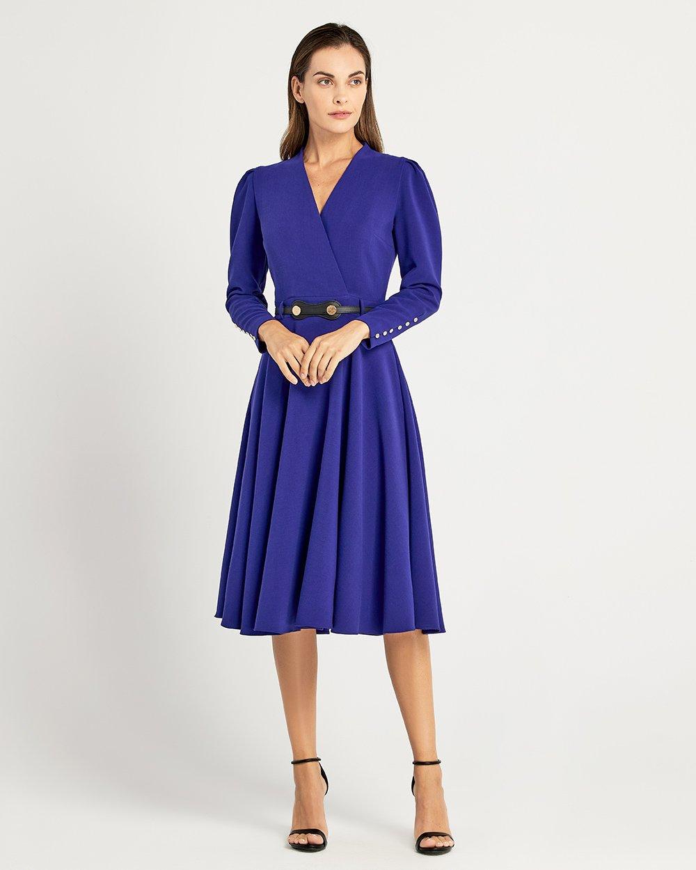 Φόρεμα κρουαζέ με ζώνη