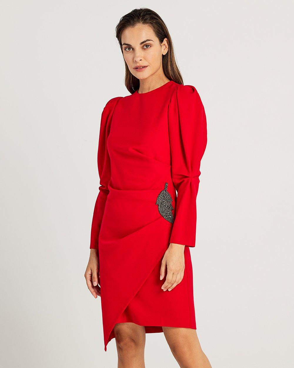Φόρεμα με puffed μανίκια