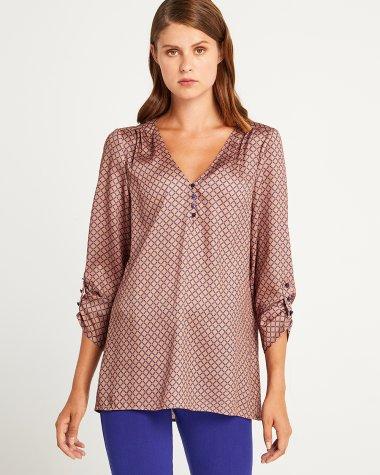 Μπλούζα με γεωμετρικό εμπριμέ