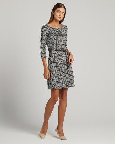 Φόρεμα σε γεωμετρίκο μοτίφ κοντό