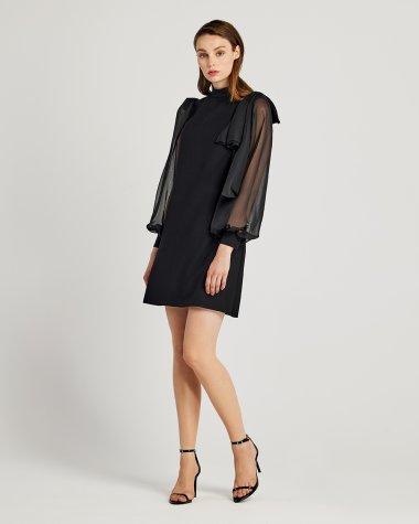 Φόρεμα με διαφάνεια στα μανίκια