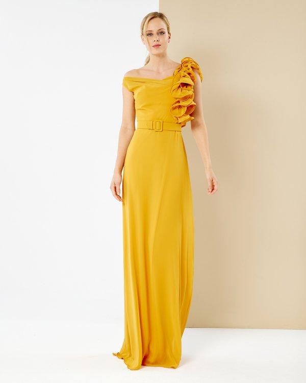 Φόρεμα αμπιγιέ μουσελίνα