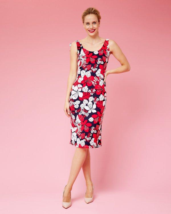 Φόρεμα μίντι φλοράλ