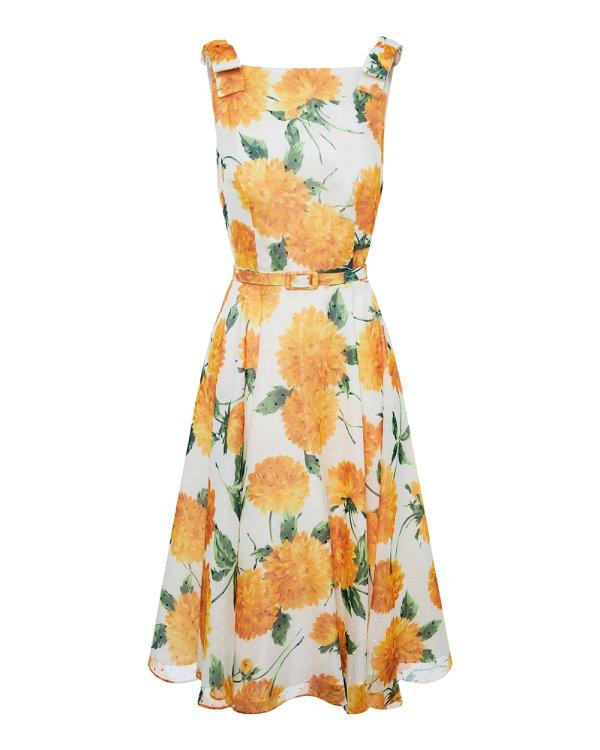 Φόρεμα floral με φιόγκους
