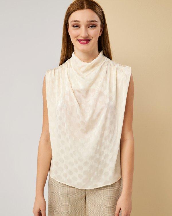 Μπλούζα  με ντραπέ λαιμό