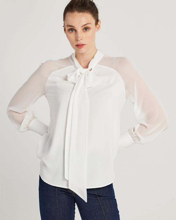 Μπλούζα με δέσιμο στο λαιμό