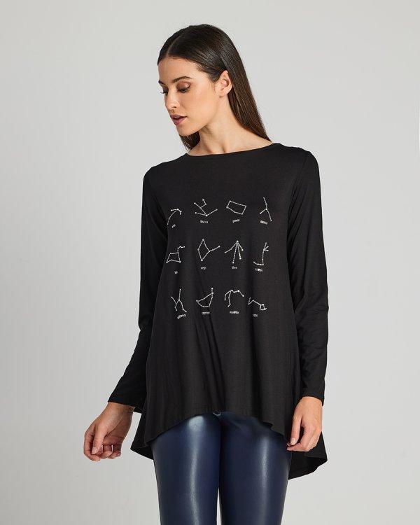 Μπλούζα με σχέδια ζώδια