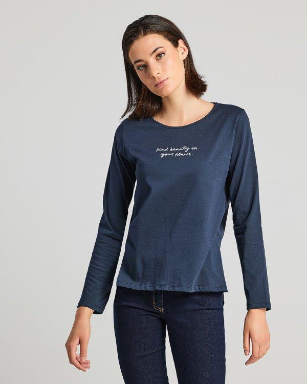Μπλούζα με λεκτικό τύπωμα