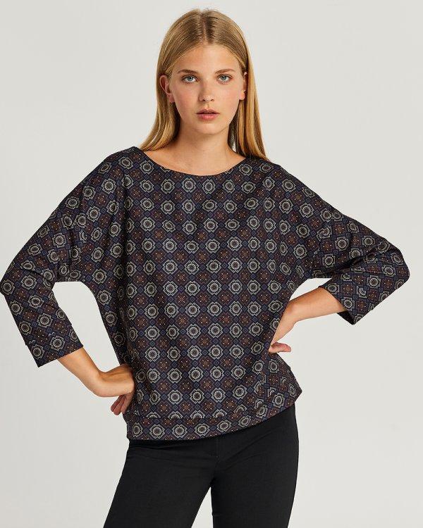 Μπλούζα με γεωμετρικό μοτίβο