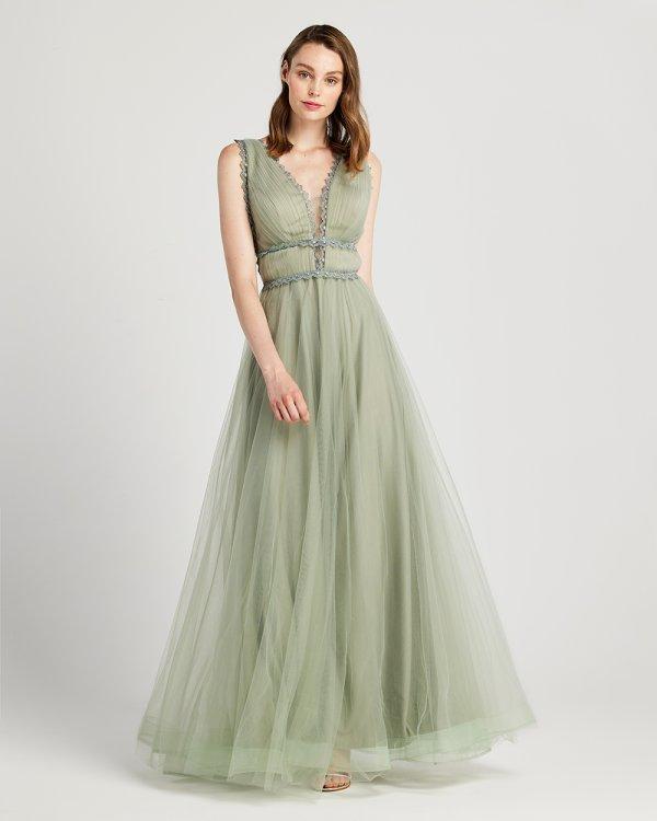 Φόρεμα αμπιγιέ μάξι