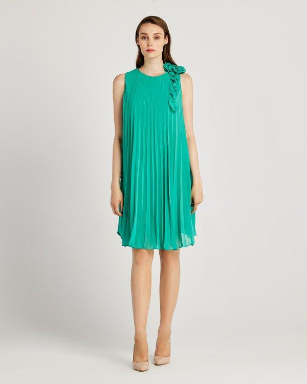 Φόρεμα πλισέ κοντό