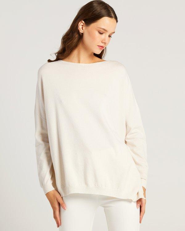 Πλεκτή μπλούζα ασύμμετρη