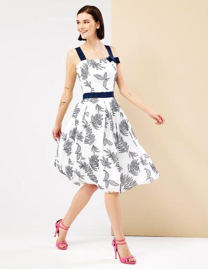 Φόρεμα midi με πιέτες