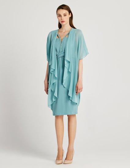 Φόρεμα αμπιγιέ με τουνίκ